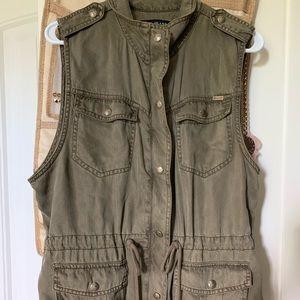 Olive Green Vest Jacket